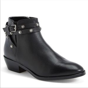 halogen | lidia black studded boots